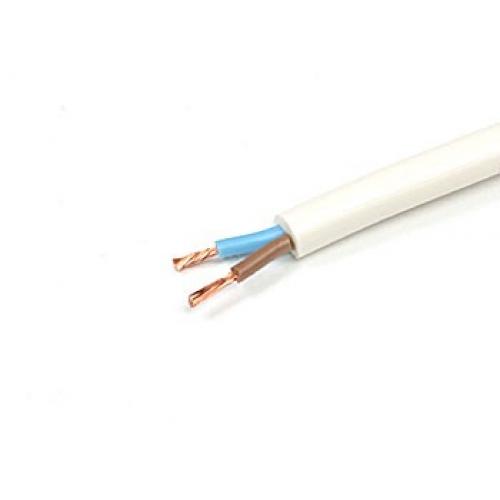 Провод ПВС 2х0.75 (ТУ / 1 м)Провод соединительный медный (ПВС) в м.пог.<br>Способ подключения бытовых приборов, различных строительных инструментов к питающей сети применяя провод ПВС-2х0.75 (1 м), обеспечивает не только безопасность их работы, но и продолжительный срок бесперебойной, эффективной эксплуатации. Чем же отличается данный тип кабеля от аналогичных материалов?Во-первых – высокие показатели эластичности, которая обуславливается наличием многопроволочных скрученных проводников (отдельно изолированных) и наружной поливинилхлоридной оплетки. Такая особенность строения дела<br>