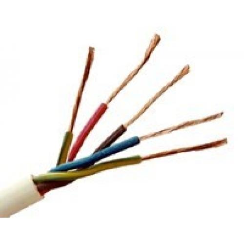 Провод ПВС 5х2.5 (ТУ / 100 м)Провод соединительный медный (ПВС) в бухтах<br>Для подключения к трехфазной сети до 380В бытовой техники, промышленного оборудования, строительного инструментария, огородной/садовой электротехники и т.д. рекомендован провод ПВС-5х2.5 (100 м). Его отличие заключается в пятижильном исполнении. Каждый проводник имеет многопроволочное строение и несет определенную функциональную нагрузку (согласно расцветки изоляции). Так, голубая жила – ноль, зелено-желтая отвечает за заземление, красная, черная или коричневая – фаза. Подобная цветовая градация очень удобн<br>