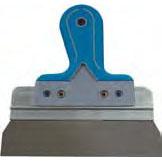 Шпатель малярный нержавеющий класс Мастер (80 мм)Шпатели, кельмы, гладилки<br>Когда требуется выровнять шпаклевкой незначительные перепады, стыки, угловые элементы, обработать швы гипсокартонных конструкций, особенно по бумажной ленте (ниши, перегородки, арки, обшивки, потолки), рекомендуется использовать шпатель малярный нержавеющий класс Мастер (80 мм). Он состоит из стального лезвия и пластиковой ручки.  Полотно имеет характерную трапециевидную форму и отличается гибкостью. Надавливая на инструмент лезвие пружинит позволяя максимально точно и аккуратно шпаклевать поверхность, не о<br>