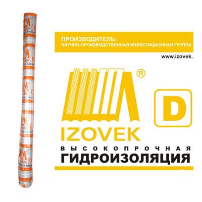 Изовек D (1.6x43.75м / 70 м2)Пароизоляционные материалы в рулоне<br>Многофункциональный материал Изовек D (1,6Х43,75 м/70 м2), благодаря специальной технологии производства (полипропиленовую ткань ламинируют пленкой с одной стороны) обладает отличными эксплуатационными характеристиками:- Влаго и паронепроницаемость – позволяет обеспечивать эффективную гидрозащиту.- Устойчивость к ультрафиолетовым лучам.- Высокая прочность – может использоваться в качестве временной, надежной кровли и наружных стен, не рвется, выдерживает снеговые и ветровые нагрузки. Период эксплуатации в у<br>