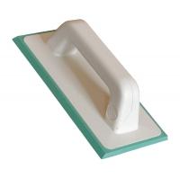 Шпатель (115х250 мм) резиновый зеленый для нанесения эпоксидной затиркиИнструменты для работы с эпоксидной затиркой<br>Специальный шпатель (115Х250 мм) резиновый зеленый для нанесения эпоксидной затирки представляет собой конструкцию, состоящую из двух основных элементов:- Пластиковая жесткая основа, в виде прямоугольника и «С» - образной ручки.- Резиновая зеленая накладка – рабочая часть (подошва).Инструмент предназначен для заполнения (расшивка) межплиточных швов двухкомпонентными эпоксидными составами «STARLIKE». Затирки данной серии отличаются непродолжительной жизнеспособностью, что следует учитывать при обработке обли<br>