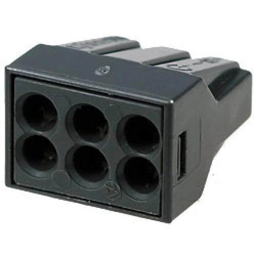 Вага одноразовая шесть контактов до 2.5 ммКлеммники, ваги, шины<br><br>