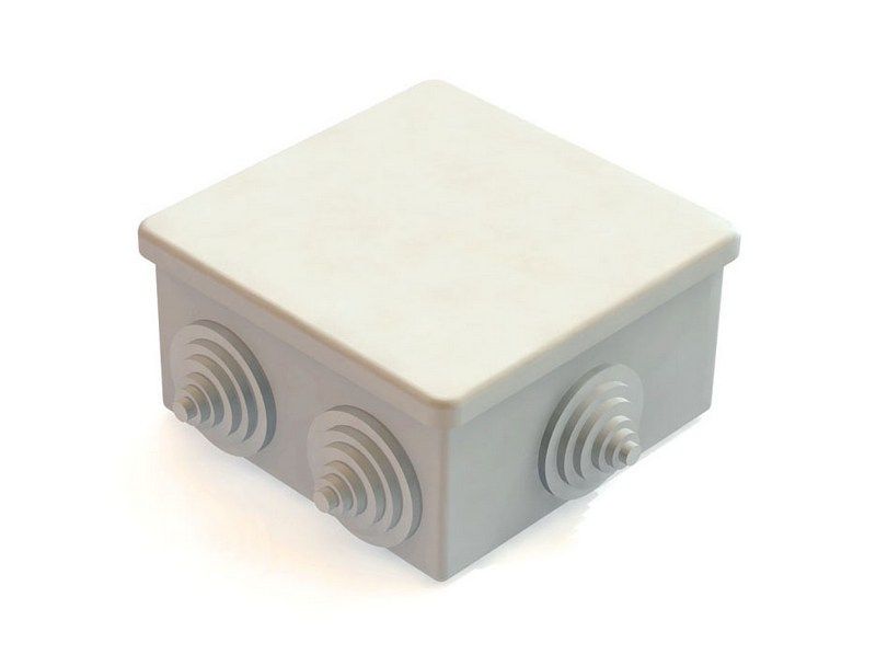 Коробка распаечная для наружного монтажа IP (80х80)Подрозетники, распаечные коробки<br><br>