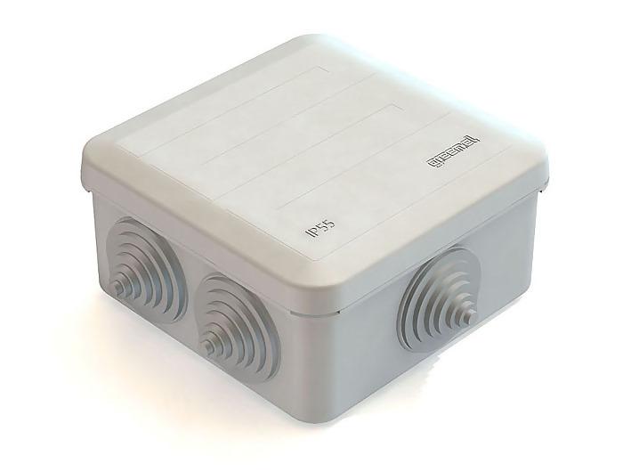 Коробка распаечная для наружного монтажа (100Х100Х40)Подрозетники, распаечные коробки<br><br>