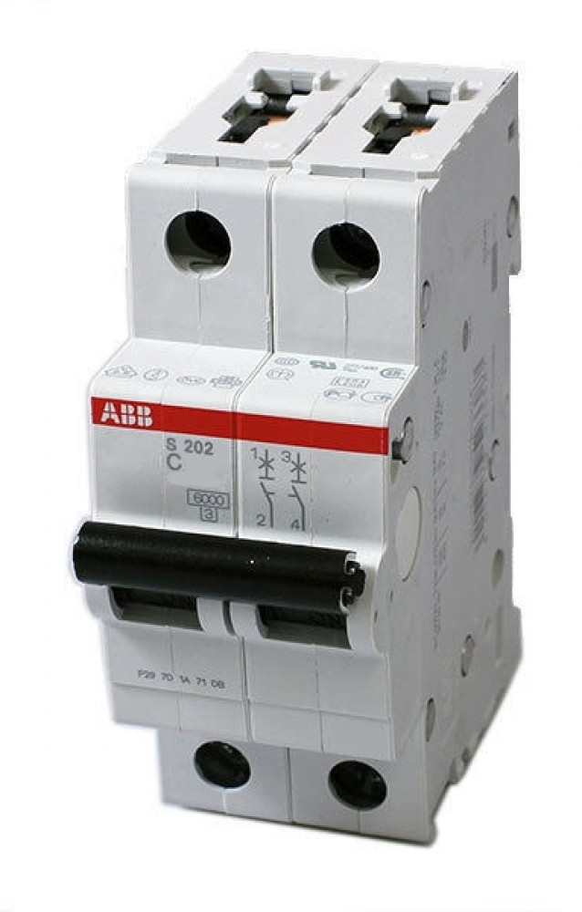 Автоматический выключатель ABB (2p / C50А / 4.5кА / SH202L)Автоматика<br><br>