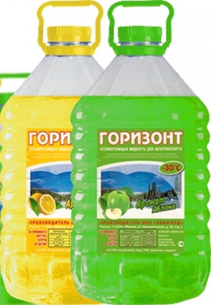 Незамерзающая жидкость Горизонт -30C (4 л)Клей, Жидкое стекло, Очистители и другие жидкости<br><br>