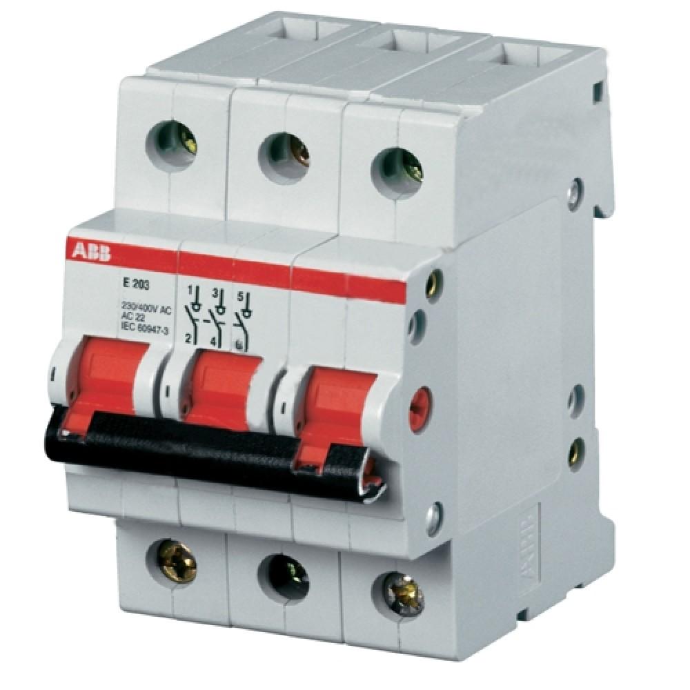 Рубильник ABB (3p / 25А / E203)Автоматика<br><br>