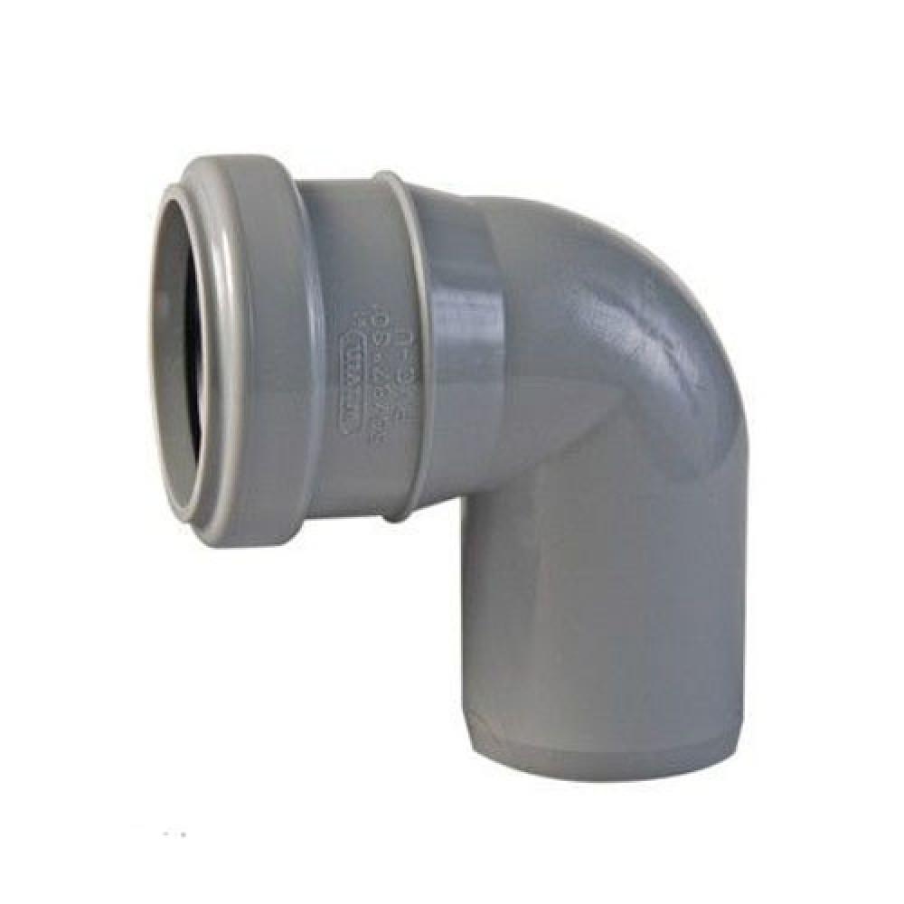 Отвод для внутренней канализации Политэк (40/90)Фитинг полипропиленовый канализационный<br><br>