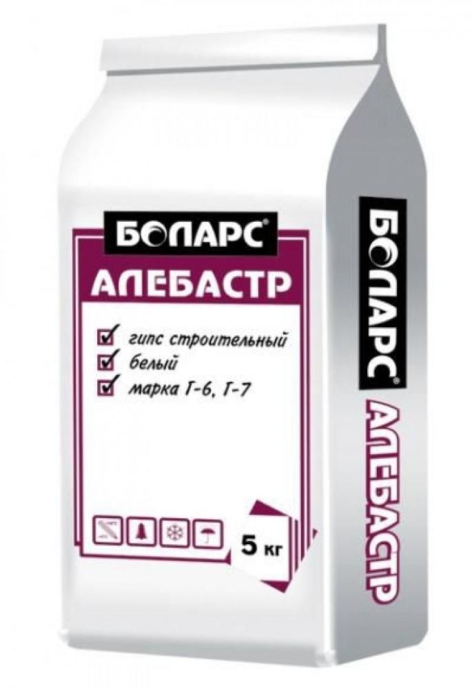 Алебастр БОЛАРС (5 кг)Ремонтно-восстановительные материалы<br>Количество воды на 1 кг сухой смеси 0,5 л/кг<br>