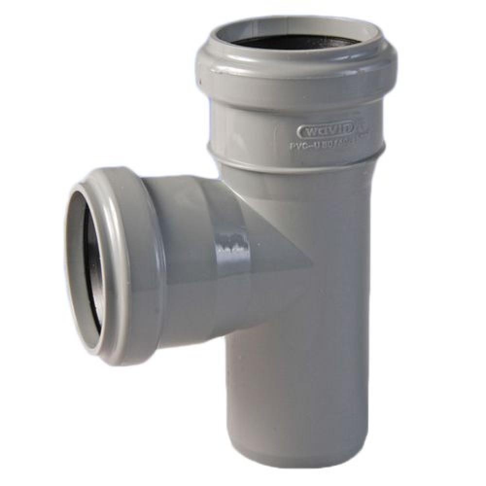 Тройник канализационный полипропиленовый Политэк (50х40/90)Фитинг полипропиленовый канализационный<br><br>