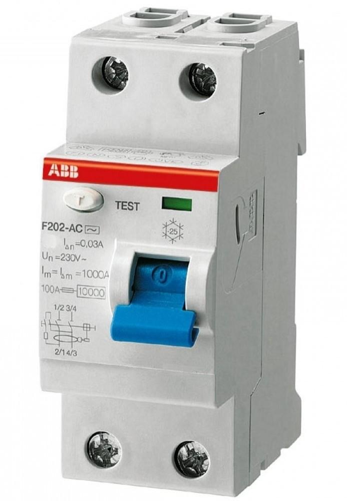 УЗО АВВ (2 м / AC-63A / 300мA / F202)Автоматика<br><br>