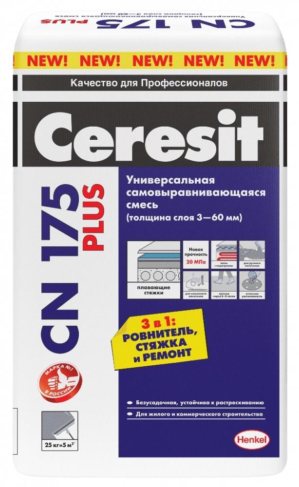 Универсальная смесь HENKEL CERESIT CN175 Plus / ХЕНКЕЛЬ ЦЕРЕЗИТ CN175 Плюс (25 кг)Наливной пол<br><br>