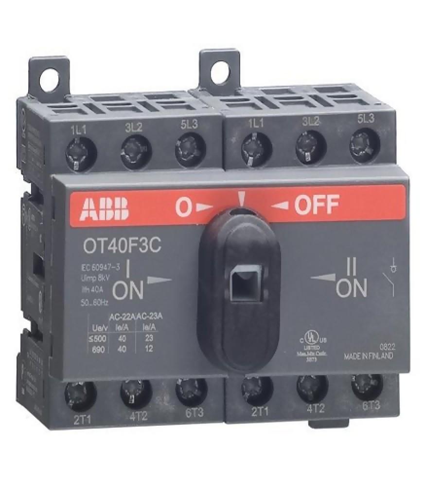 Реверсивный рубильник ABB (OT 40F3C / 40A / с ручкой)Автоматика<br><br>