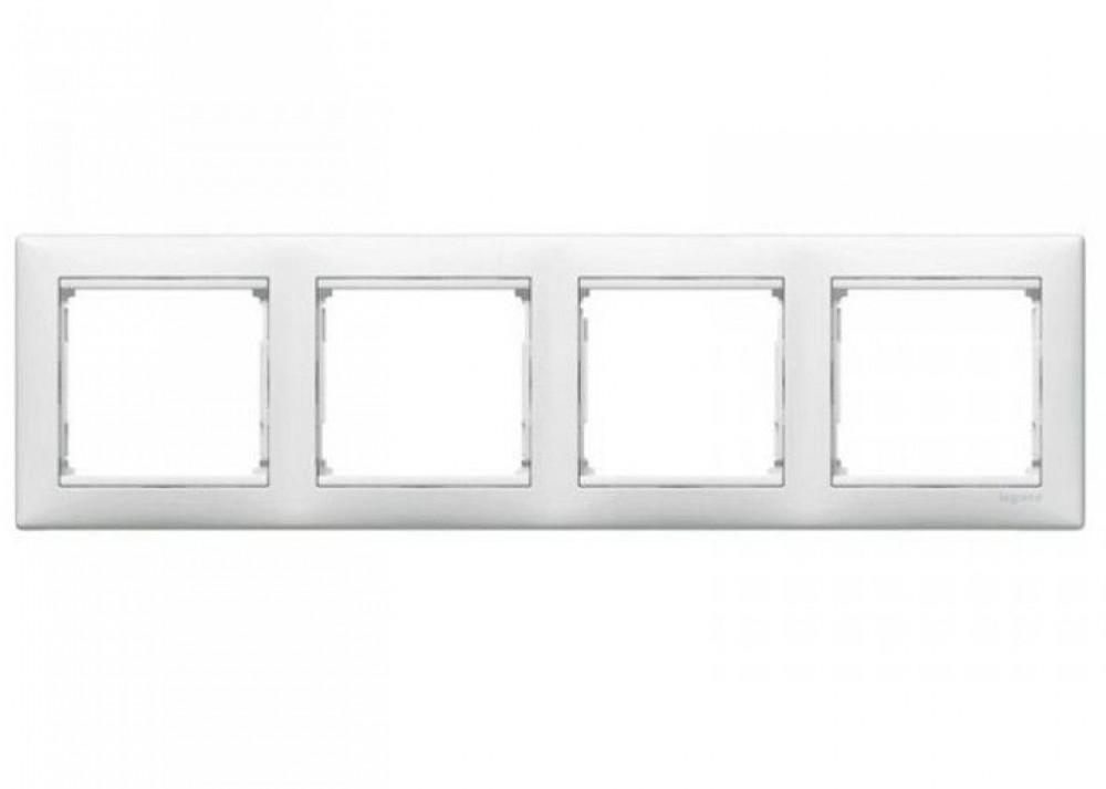 Рамка четырехмодульная Legrand / Легранд (арт. 774454)Розетки и выключатели Легранд (Legrand)<br><br>