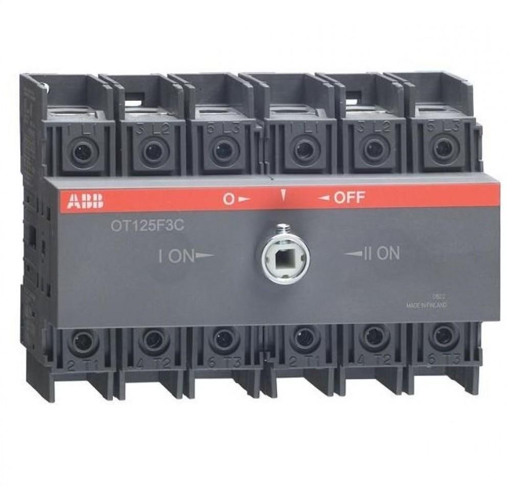 Реверсивный рубильник ABB (OT 125F3C / 125A / без ручки)Автоматика<br><br>