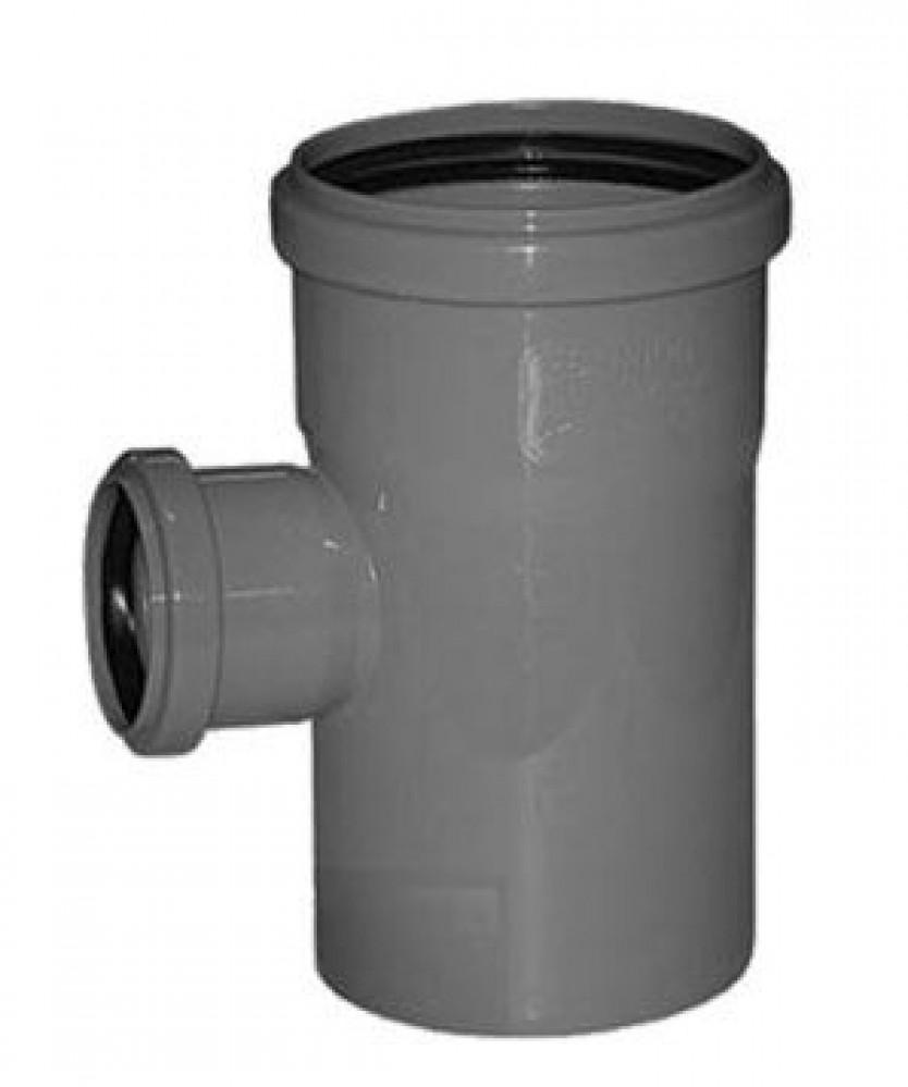 Тройник канализационный полипропиленовый Политэк (110х50х110 / 90)Фитинг полипропиленовый канализационный<br><br>