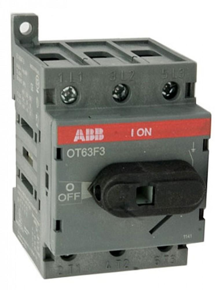 Рубильник на Din-рейку ABB (OT 63F3 / 63A)Автоматика<br><br>