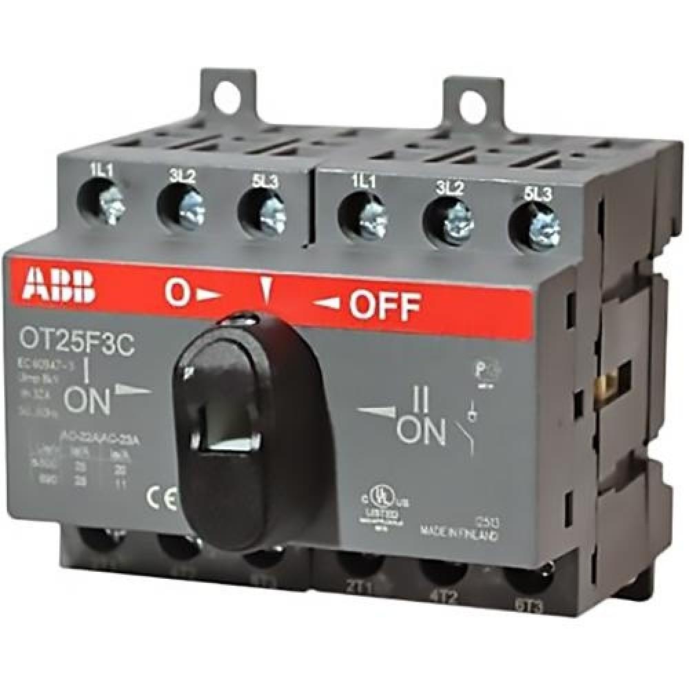 Реверсивный рубильник ABB (OT 25F3C / 25A / с ручкой)Автоматика<br><br>