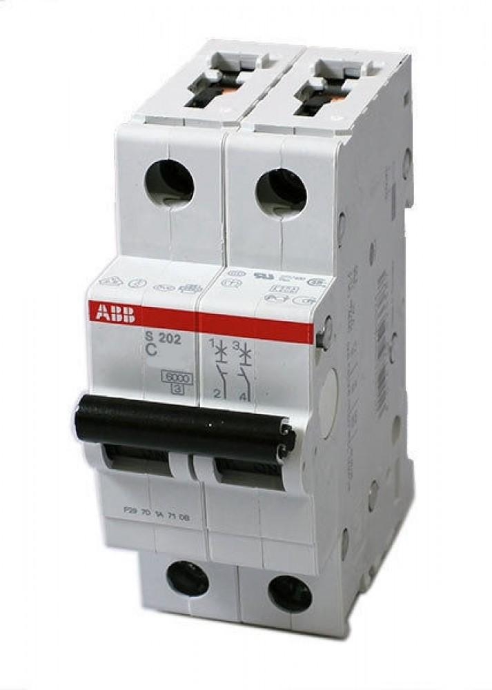 Автоматический выключатель ABB (2p / C25А / 4.5кА / SH202L)Автоматика<br><br>