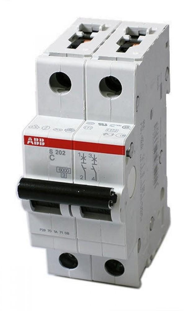 Автоматический выключатель ABB (2p / C63А / 4.5кА / SH202L)Автоматика<br><br>