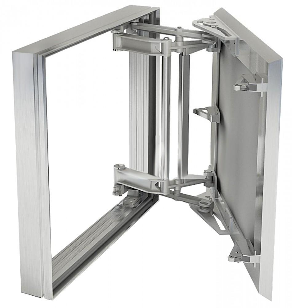 Люк сантехнический под плитку нажимной (алюминиевый / 400 х 400 мм) Xаммер серия СлаваСантехнические люки<br><br>