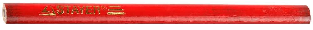 Карандаш STAYER разметочный графитный (180 мм)Карандаши, нити, порошки, клинья<br>Проведение строительных и ремонтных работ невозможно без постоянных замеров и разметок. Для этих целей оптимально подходит специальный строительный карандаш STAYER разметочный графитный (180 мм). Этот нужный и удобный аксессуар изготавливают из специально подготовленной липы, а в графите имеются добавки глины. Пишущий стержень строительного карандаша помещается между двумя деревянными планочками, соединяемых с помощью клея под высоким давлением.После окончательной обработки карандаш окрашивается в соответст<br>