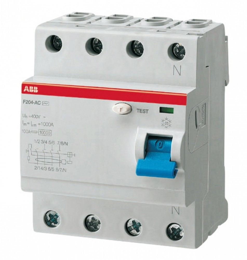 УЗО ABB (4м / AC-40А / 300мА / F204)Автоматика<br><br>