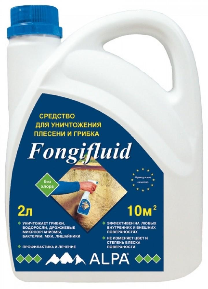 Средство для уничтожения плесени и грибка Alpa Fongifluid / Альпа Фонгифлюид (2 л)Противоморозные и защитные средства для древесины<br><br>