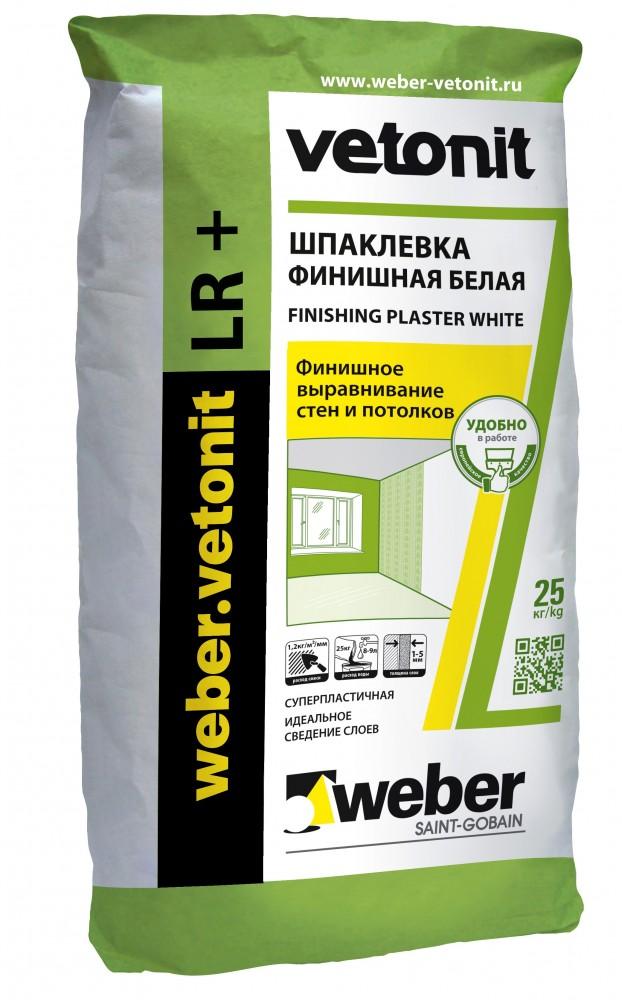 Шпаклевка VETONIT FINISH LR PLUS / ВЕТОНИТ ФИНИШ ЛР ПЛЮС (25 кг)Шпатлевки сухие<br>Специально для выравнивания потолков, стен внутри сухих (не влажных) помещений рекомендуется шпаклевка VETONIT FINISH LR PLUS (25 кг). Она находит свое применение по всем популярным видам оснований выполненных из бетона, цемента, гипса, ДСП, гипсокартона, ЦСП и т.д. Обладая отличными адгезионными свойствами, раствор надежно сцепляется с основанием, предупреждая отслаивание в процессе эксплуатации и обеспечивая долговечность покрытия.Особенности шпаклевкиВ-первую очередь - устойчивость получаемой поверхности<br>