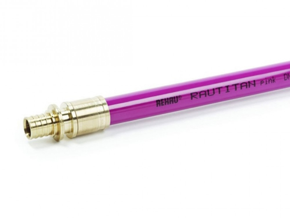 Труба REHAU RAUTITAN PINK / Рехау полиэтиленовая (25 х 3.5 мм / 1 м.п.)Трубы<br><br>