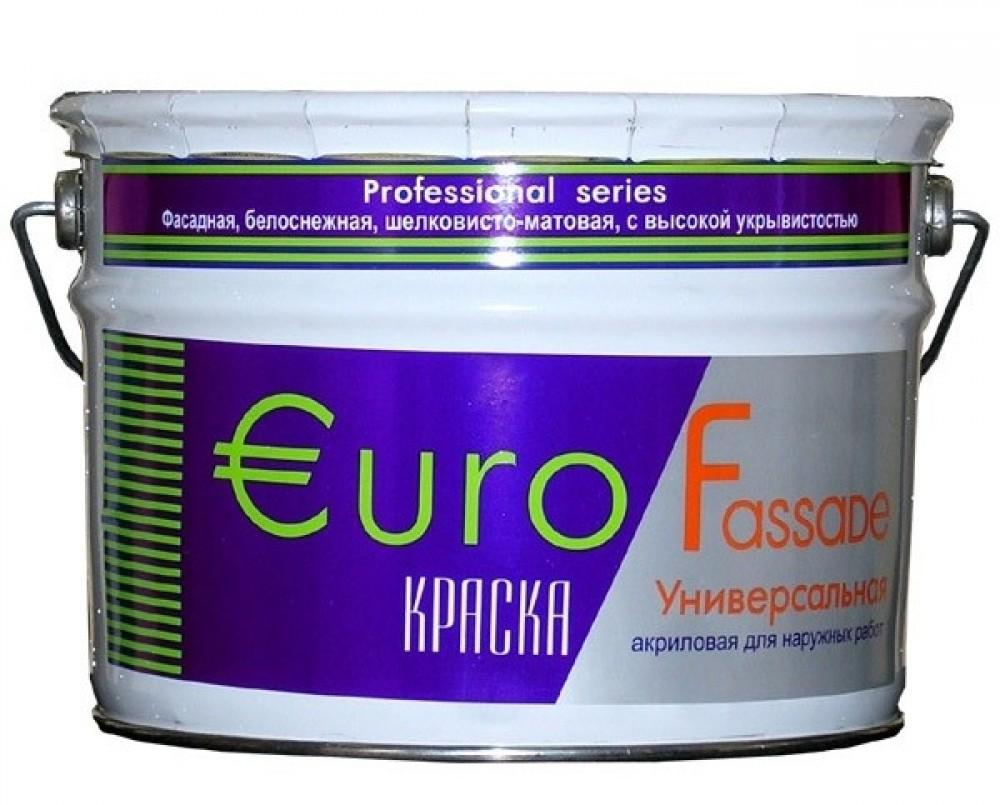 Краска фасадная Euro Fassade / Евро белоснежная (10 л)Краска<br><br>