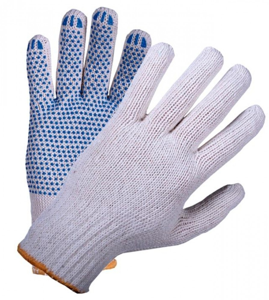Перчатки универсальные хлопчатобумажныеСпецодежда<br>Хлопчатобумажные перчатки – самое популярное и доступное средство индивидуальной защиты. Они используются при производстве строительных и ремонтных работ, актуальны для работников сельскохозяйственной и авторемонтной сферы. Работа грузчиков, столяров, работников складов также невозможна без использования данных защитных средств.Главным достоинством таких перчаток является их безопасность. Хлопок не вызывает аллергических реакций, дышащий материал защищает руки от холода, при этом не давая рукам потеть в жар<br>