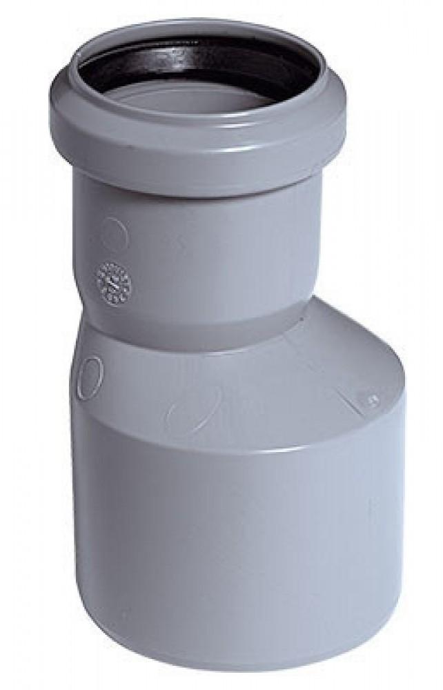 Переход внутренняя канализация эксцентрический Политэк (50/40)Фитинг полипропиленовый канализационный<br><br>