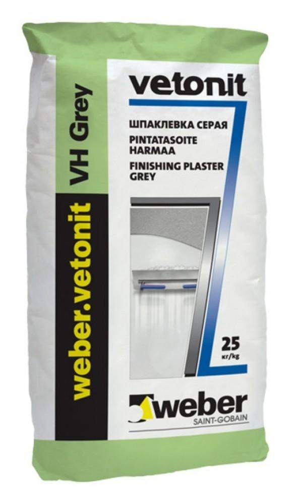 Шпаклевка VETONIT WEBER VH / Вебер Ветонит ВХ серая (25 кг)Шпатлевки сухие<br><br>