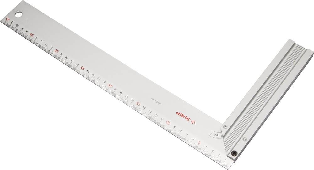 Угольник столярный Зубр (200 х 400 мм / алюминий)Измерительный инструмент<br><br>