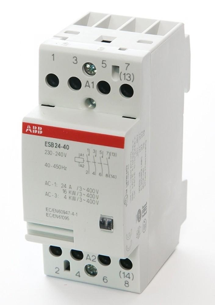Модульный контактор ABB (ESB-24-40 / 24A AC / 220В)Автоматика<br><br>