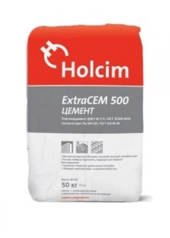 Цемент Holcim / Холсим (ExtraCEM 500) (50 кг)Сухие смеси, гарцовка<br>Цемент Holcim ExtraCEM 500 относится к быстротвердеющим строительным смесям, которые используются при строительстве конструкций, к которым выдвигаются повышенные требования к прочности и несущим способностям. Использование цемента этой марки позволяет существенно сократить срок распалубки и бетонирования, проводя эти работы при низких и даже отрицательных температурах окружающей среды.Применять цемент Holcim ExtraCEM 500 рекомендовано при проведении специальных строительных работ на объектах повышенной слож<br>