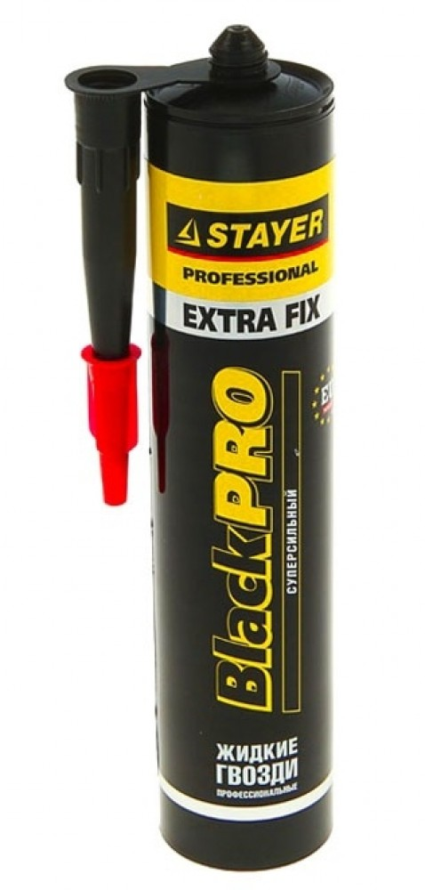 Клей монтажный STAYER Professional Extra Fix / Стаер (280 мл)Герметики, клеи, жидкие гвозди<br><br>