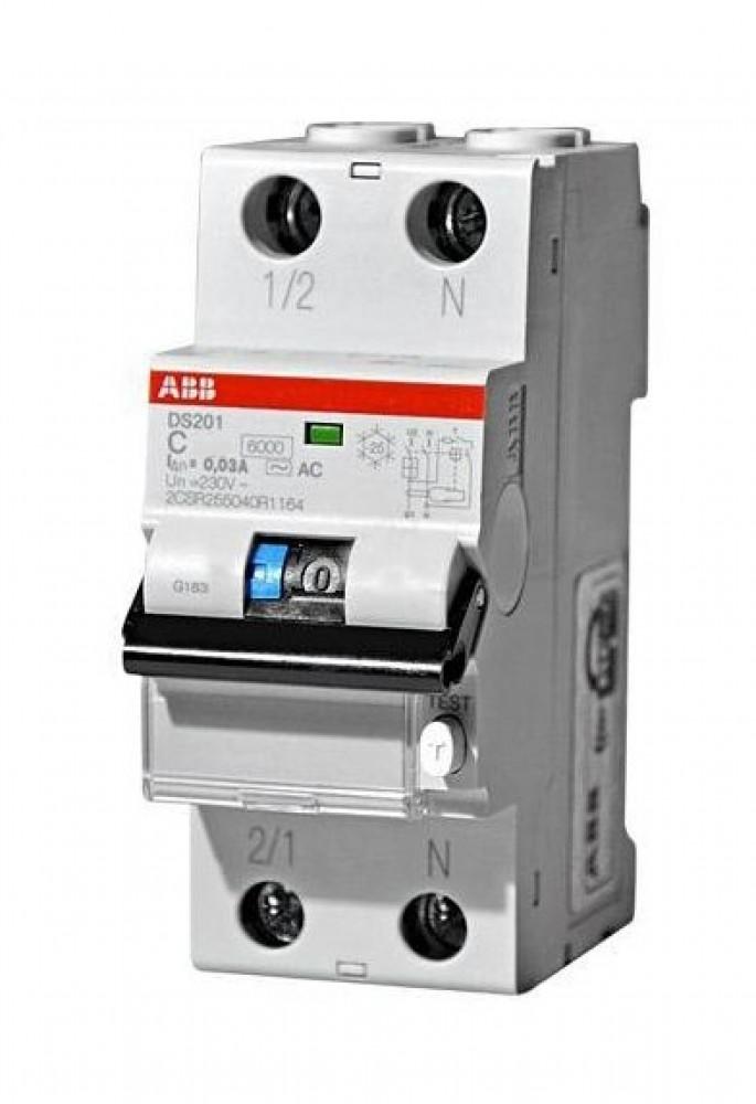 ДИФ-автомат ABB (1P+N / C20 / 30мА / DS201)Автоматика<br><br>