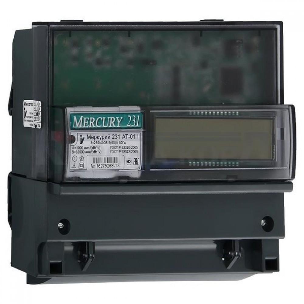Счетчик электроэнергии трехфазный двухтарифный MERCURY 231 AT -01I / МЕРКУРИЙ 231 AT -01IЭлектросчетчики<br><br>