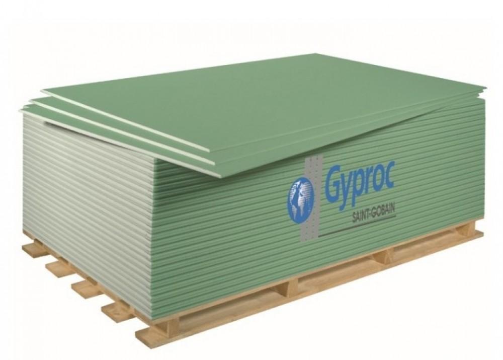 Гипсокартон обычный Gyproc/Гипрок 2500х1200х9,5 мм (ПК)Гипсокартон<br>Стандартный гипсокартонный лист Gyproc – это экологически чистый листовой отделочный материал.<br>Он состоит из гипсового сердечника, изготовленного из строительного гипса, облицованного картоном. Лицевой картон этого листа имеет светло-серый цвет.<br>Стандартный гипсокартонный лист Gyproc применяется для отделки помещений любого назначения, где нет повышенной влажности: жилые комнаты, гостиные, коридоры.<br>