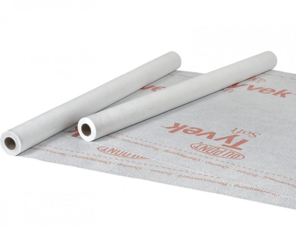 Пленка ветро-гидрозащитная Tyvek Solid / Тайвек Солид (1.5 x 50 м / 75 м2)Пароизоляционные материалы в рулоне<br><br>