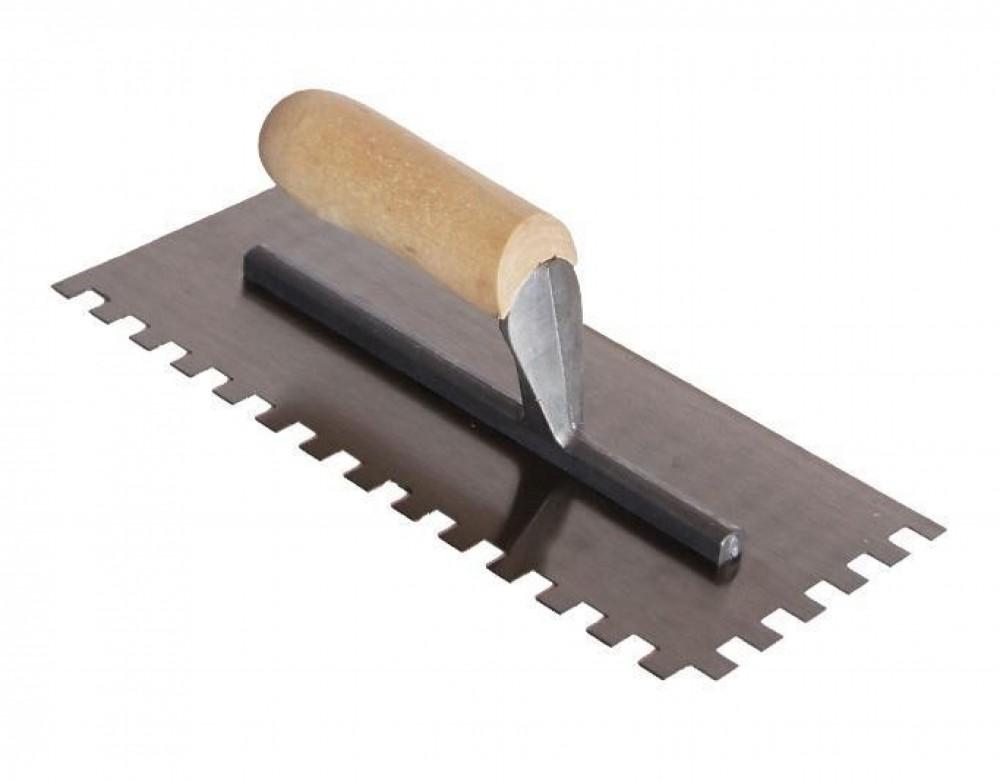 Шпатель-гребенка с торцевой ручкой (140 х 280 мм / 10 мм)Шпатели, кельмы, гладилки<br><br>