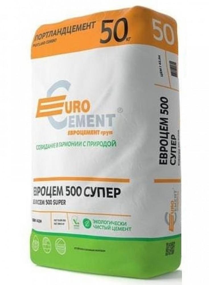 Портландцемент М-500 Супер Eurocement / Евроцемент (50 кг)Сухие смеси, гарцовка<br><br>