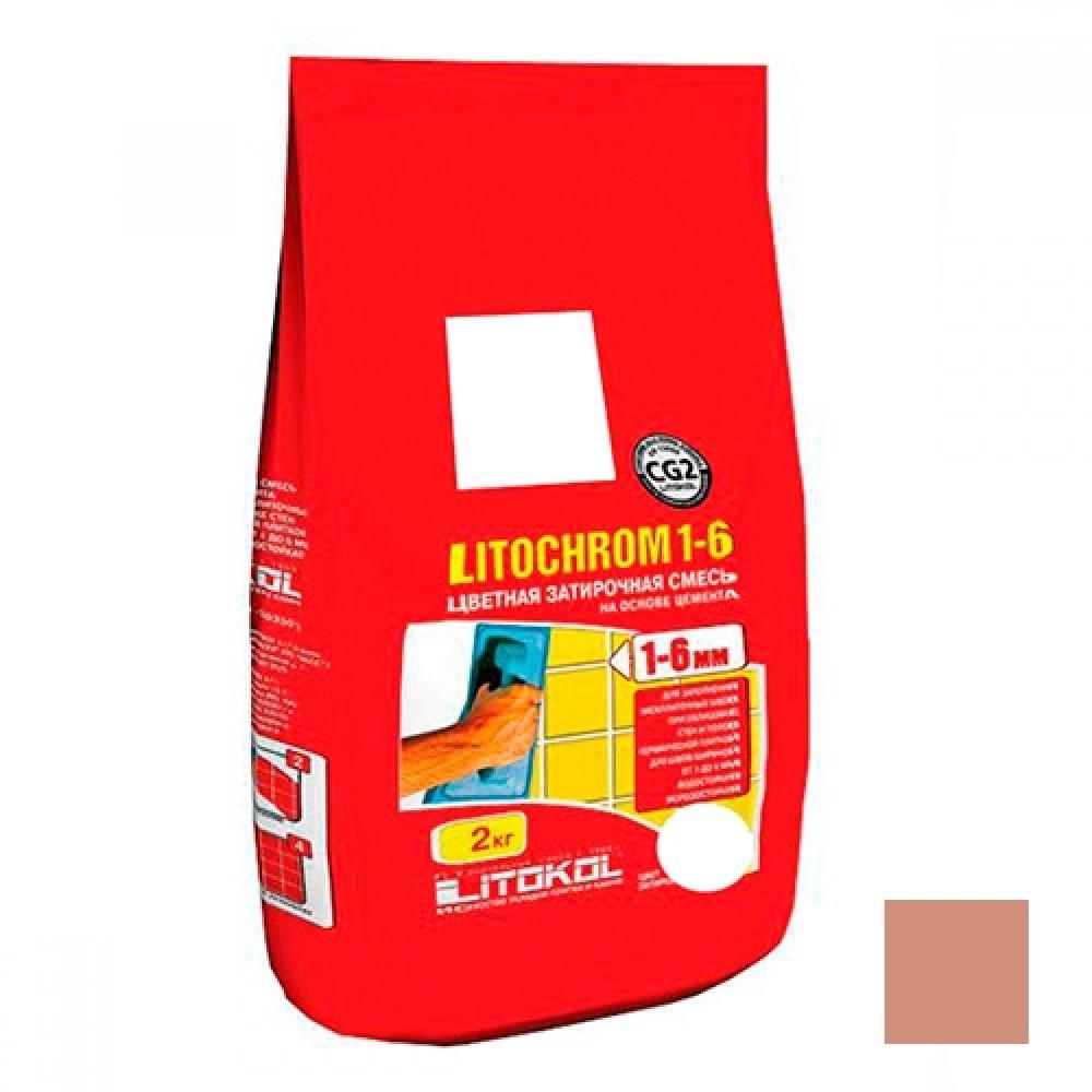 Затирка LITOKOL LITOCHROM 1-6 C.90 / ЛИТОКОЛ ЛИТОХРОМ 1-6 С.90 терракота (2 кг)Затирка для плитки<br>Правильно подобранный цвет межплиточных швов обеспечивает покрытию эстетичный и привлекательный внешний вид. Среди богатого выбора оттенков затирка ЛИТОХРОМ 1-6 С.90 (терракота) 2 кг. занимает особое место. Красно-коричневый цвет позволяет выделять определенную композицию, создавать на облицовке рисунки и орнаменты, особенно со светлой плиткой/мозаикой. Помимо этого, в сочетании с темно-красной и коричневой керамикой швы скрывают неровности кладки обеспечивая визуальную целостность и монолитность поверхност<br>