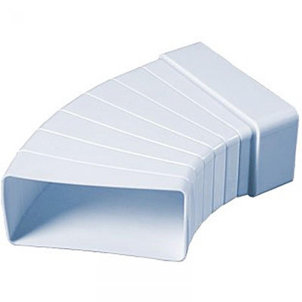 Колено разноугловое горизонтальное для прямоугольных воздуховодов (60х204 мм)Вентиляция<br>Колено горизонтальное разноугловое, 60х204 – используется в системах приточной или вытяжной вентиляции помещений в качестве соединительного элемента плоских каналов между собой под различным углом. Добиться нужного угла направления канала позволяют разборные секции, которые легко соединяются между собой. Колено изготовлено из ударопрочного полистирола белого цвета. Плоские каналы прямоугольного сечения соединяются между собой напрямую.<br>