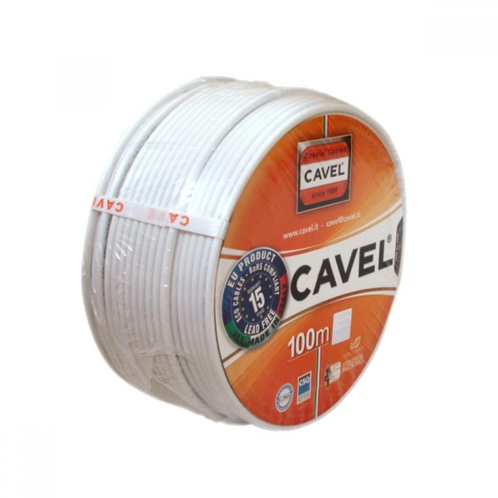 Кабель коаксиальный TV Cavel SAT 50 / ТВ Кавел Италия (100 м)ТВ кабель<br><br>