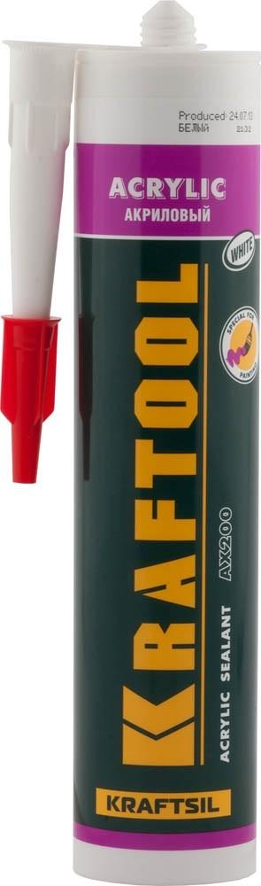 Герметик акриловый Kraftool / Крафтул белый (300 мл)Герметики, клеи, жидкие гвозди<br><br>