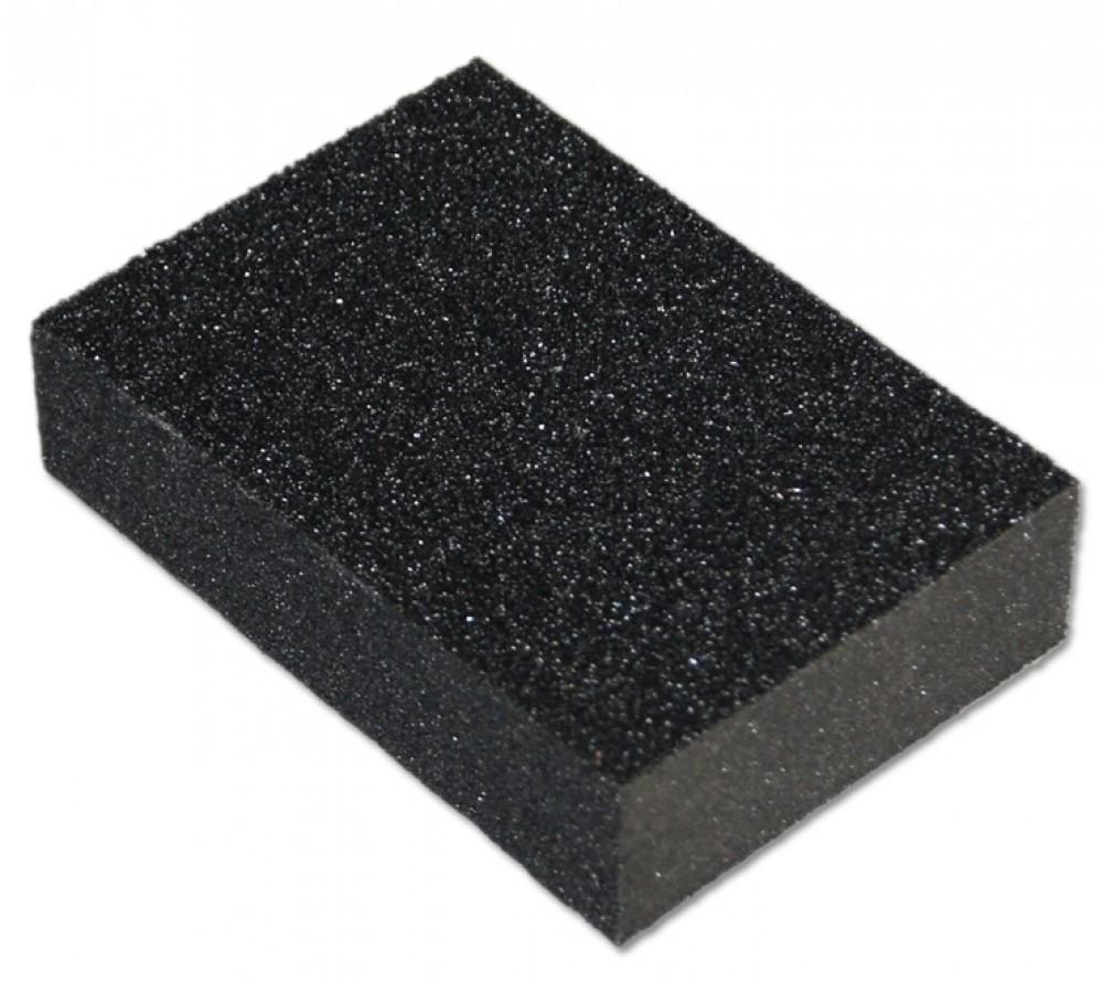 Губка шлифовальная класс Стандарт (100 х 70 х 25 мм / P40)Губки шлифовальные<br>Для обработки поверхности (шлифования) широко применяется механический способ. Он позволяет значительно упростить, облегчить и ускорить время производства работ. Однако электрический инструмент, за счет своих габаритов, как правило, используется только на открытой плоскости, а основания со сложной геометрией ему не доступны. В этом случае на помощь приходит губка шлифовальная класс Стандарт (100Х70Х25 мм. зерно 40). Она предназначена для ручной обработки различных поверхностей (рельефные, профильные), детал<br>