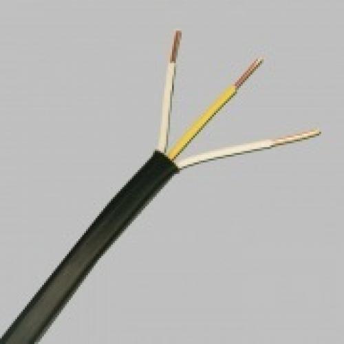 Кабель ВВГ нг LS 3х2.5 плоский (ТУ / 1 м / твердый)Кабель силовой медный негорючий (ВВГ нг) в м.пог.<br><br>